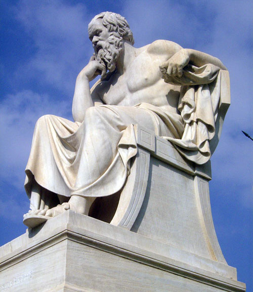 Socrates probably  has a beard
